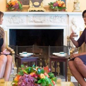 Michelle Obama gives Melania tour of White House