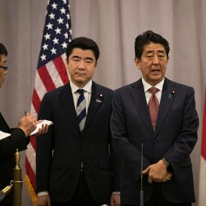 Japanese PM Abe meets Donald at Trump Towers