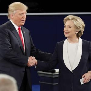 The high points in second Trump-Clinton face-off