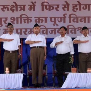 PHOTOS: RSS workers don new uniform on foundation day