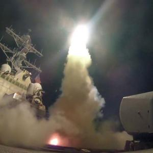 IN PHOTOS: The 59-missile attack by US on Syria
