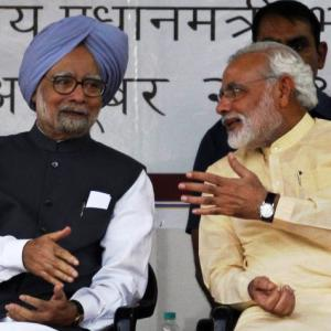 Find 'more dignified ways' to seek votes: Manmohan to Modi