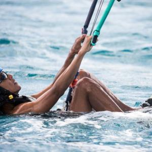 Gone with the wind: 'Chill' Obama kite-surfs with Richard Branson