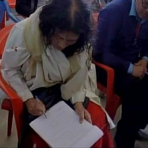 Manipur polls: Irom Sharmila cycles 20 km to file nomination