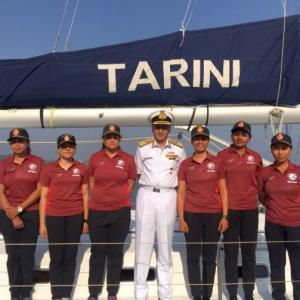 Indian Navy inducts all women crew sailboat 'Tarini'