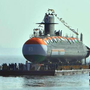 2nd Scorpene class submarine Khanderi launched