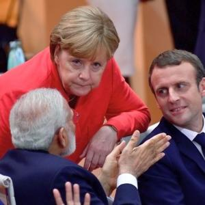PHOTOS: From Merkel to Macron, Modi meets them all