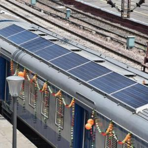 India gets its first solar-powered train
