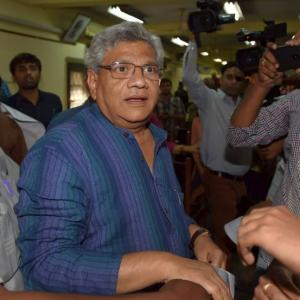 Sitaram Yechury manhandled in Delhi, 2 held