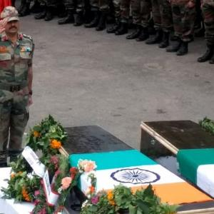 Army, BSF bid farewell to martyred soldiers