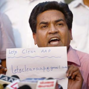 AAP suspends Kapil Mishra from party