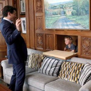 PHOTOS: Justin Trudeau's son joining him at work is oh-so-cute!