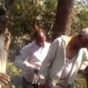 BJP corporator tied to a tree, thrashed over demolition of a slum