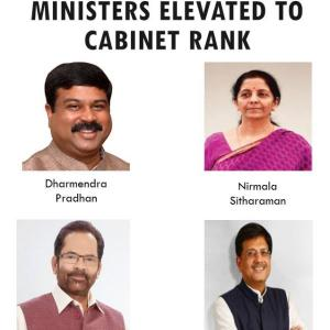 Team Modi reshuffle: 4 ministers promoted to Cabinet rank