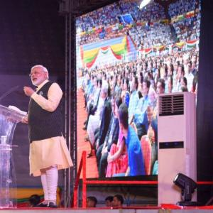 'Not changing India, but building a new India': Modi in Yangon