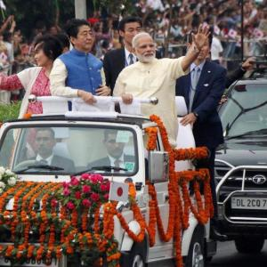 PHOTOS: Modi's Ahmedabad darshan for Abe