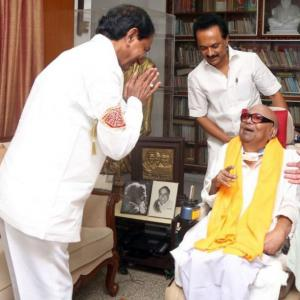 'Not a 3rd front, but alignment of people of India': KCR after meeting DMK top brass