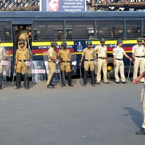 PHOTOS: Trains stopped, buses stoned during Maharashtra bandh