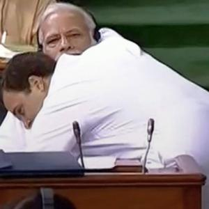 Who said what about Rahul's hug