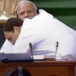 CAPTION THIS: When Rahul hugged PM Modi