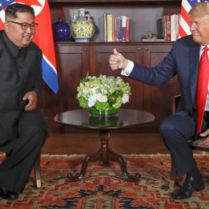 Smiles, thumbs-up, stroll in the garden: Inside the Trump-Kim meet