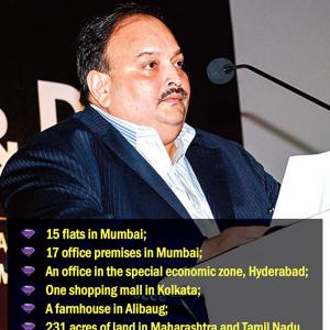 So how much has ED seized from Modi and Choksi?