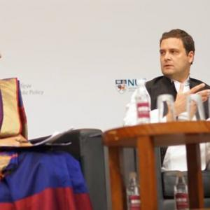 Row over Rahul 'dodging question' over Congress's economic policies