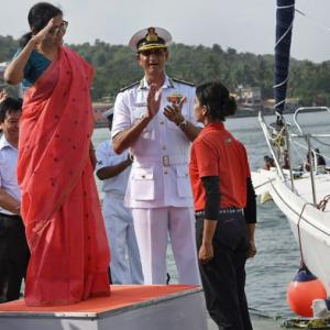 PHOTOS: Navy girls reach home after travelling around globe