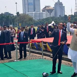 Flying kites, visit to mosque: All in a day's work for PM in Indonesia