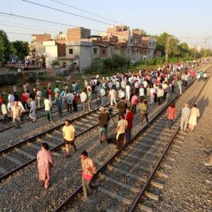 People couldn't hear horn of the train due to firecrackers: Locals