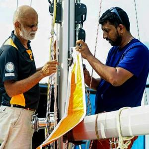 'Abhilash Tomy is very comfortable at sea'