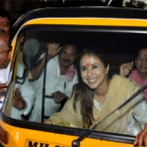 PHOTOS: Mumbai's mulgi Urmila on the campaign trail