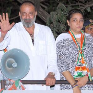 PHOTOS: Sanjay Dutt campaigns for sister Priya in Mumbai