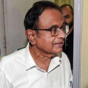Chidambaram at CBI office he inaugurated in 2011