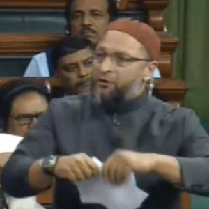 Owaisi tears copy of citizenship bill in Lok Sabha