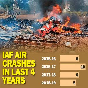 Crashes that hit the IAF since 2015