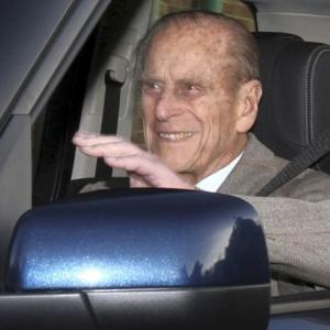 Britain's Prince Philip spotted driving without seatbelt days after crash