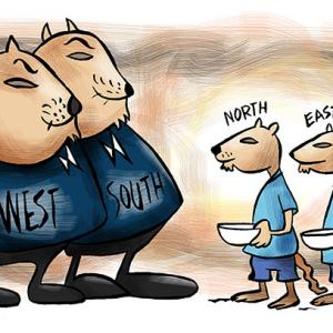 India's West-South vs North-East mismatch