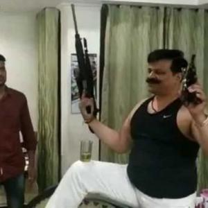 Watch: Uttarakhand BJP MLA dances with guns in hands