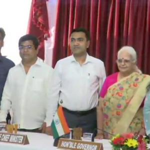 Days after joining BJP, 3 ex-Cong MLAs inducted in Goa cabinet