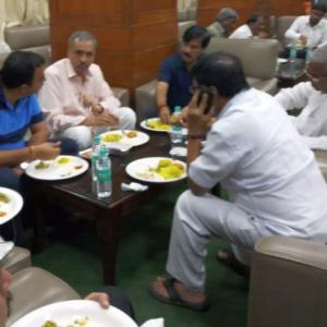 PHOTOS: Cong orders food for BJP 'friends' in K'taka