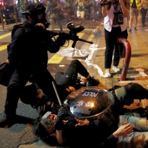 Hong Kong on the edge as protests take a violent turn