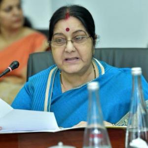 Sushma, AP Guv? Deleted tweet sparks off buzz