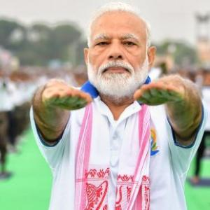 Yoga goes beyond colour, caste, creed: PM Modi