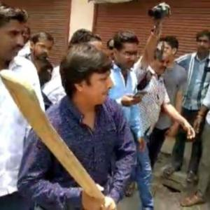 Vijayvargiya's MLA son beats officer with bat; jailed
