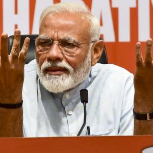 Modi attends first presser as PM, takes no questions