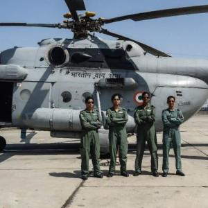 IAF's 1st all-women crew fly Mi-17 in training mission