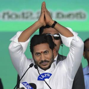 Jagan sworn in as Andhra CM; Naidu skips ceremony