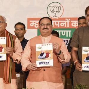 BJP Haryana manifesto: Sops for farmers, elderly