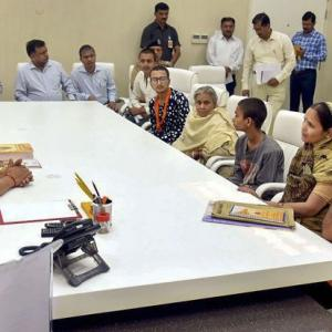 UP CM assures kin of slain Hindutva leader all help